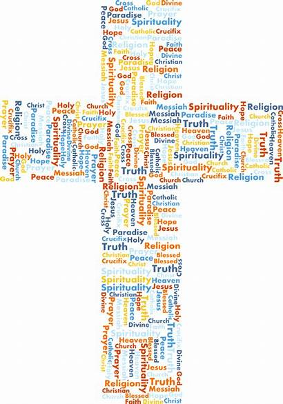 Word Clipart Jesus Cross Background Holy Cloud