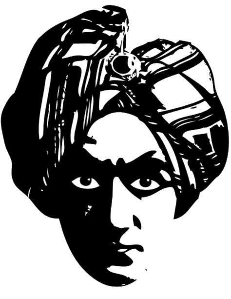 Spooky Person Head Turbine clip art Free Vector / 4Vector
