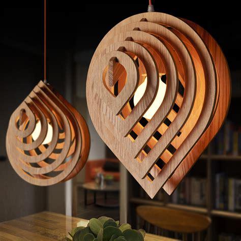 drop led wood pendant light rustic lighting fixtures