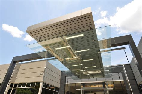 house entrance canopy design commercial building entrance canopies design of novelis new global research technology