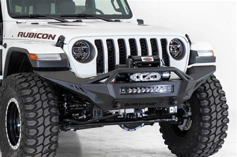 jeep jljt rubicon stealth fighter full length winch front bumper  top hoop