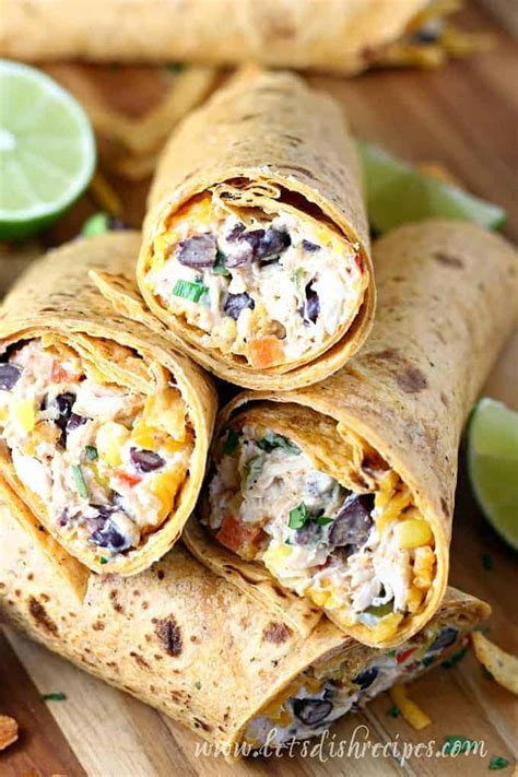 southwest cream cheese chicken wraps lets dish recipes