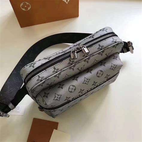 louis vuitton mens messenger monogram outdoor bag  silver   replica