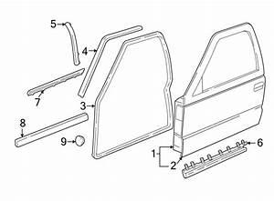 Chevrolet S10 Door Window Belt Weatherstrip  Front   Outer