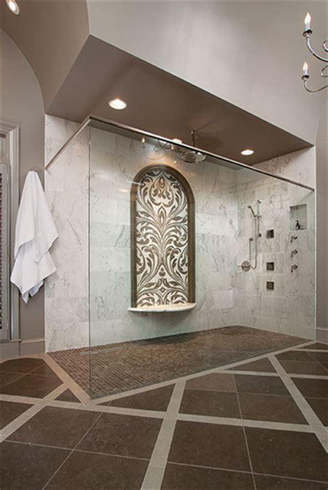 barrel vaulted ceiling  master bathroom modern