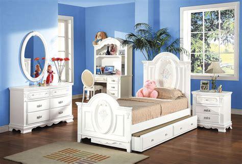 white finish twin full size panel bedroom set