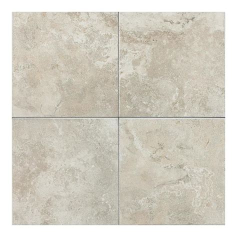 lowes flooring ceramic tile shop american olean 11 pack pozzalo sail white ceramic floor tile common 12 in x 12 in actual