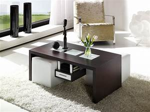 Table Basse Avec Pouf Pas Cher : table basse avec pouf coffre le bois chez vous ~ Teatrodelosmanantiales.com Idées de Décoration
