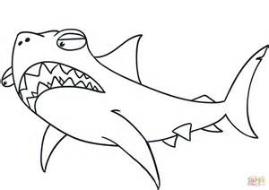 Cartoon Shark coloring page Free Printable Coloring Pages