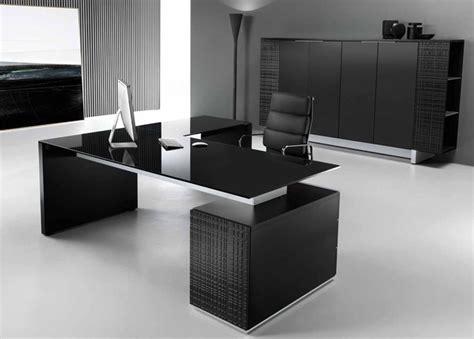 glass executive desk office furniture modi executive pedestal desk black glass top office