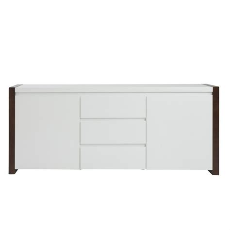 White And Walnut Sideboard by Eurostyle Manon Sideboard In White And Walnut