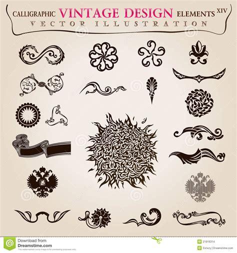 calligraphic elements vintage vector symbols stock vector