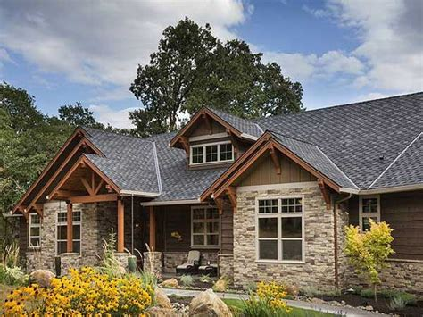 Brick Ranch Converted To Craftsman Rustic Craftsman Ranch