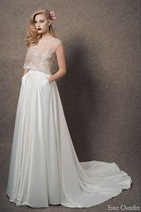 1000 images about crop top two piece wedding dresses on With top wedding dresses