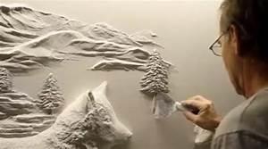 il realise une decoration murale magnifique avec du platre With decoration murale en platre