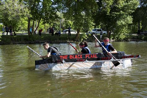 Cardboard Boat Buy by The Annual Armada Of Cardboard Boats Fight To Stay Afloat