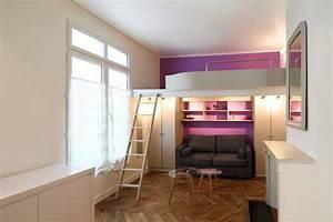 un studio de 20 m2 avec mezzanine le blog d39une With meubler un petit appartement 13 130