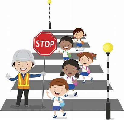 Crossing Clipart Road Stop Abuse Child Pedestrian