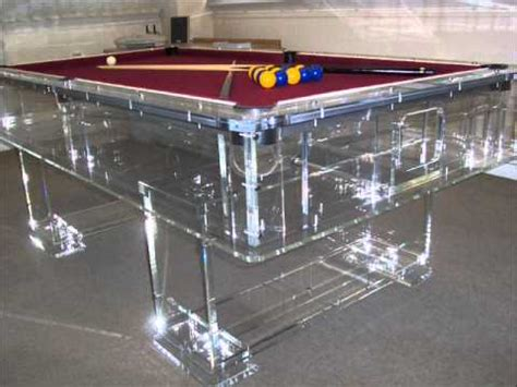 best pool tables in the world the best clear acrylic perspex pool table in the world
