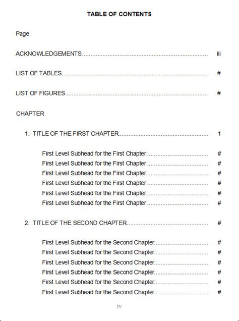 what is a table of contents table of contents exle pictures to pin on pinterest