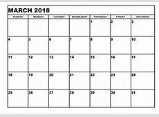 Blank Printable Calendar 2018 Activity Shelter