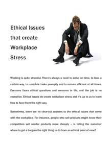 Ethical Issues Workplace