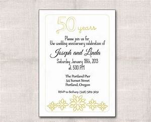 golden wedding anniversary invitation golden wedding With free printable invitations for 50th wedding anniversary