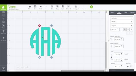 true type circle monogram font  cricut design studio youtube