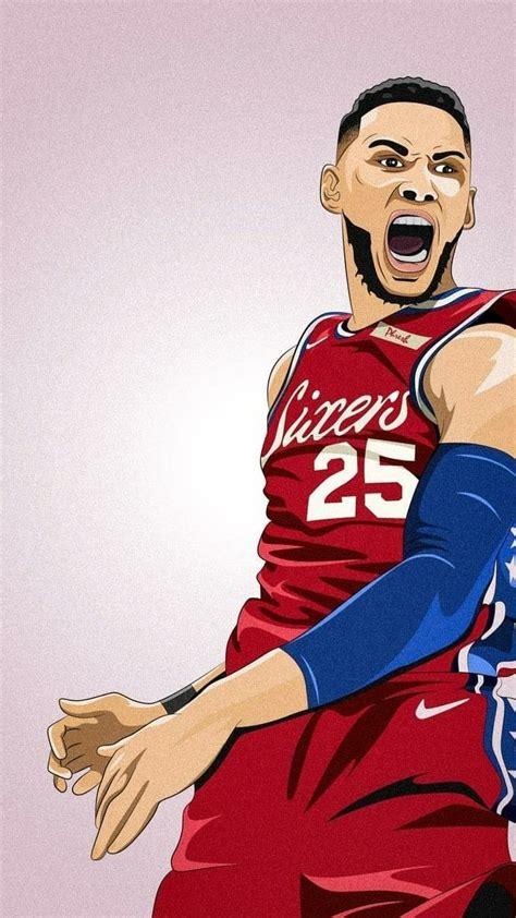 basketball players cartoon wallpapers wallpaper cave