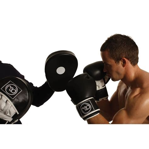boxing mad curved leather hook jab pads