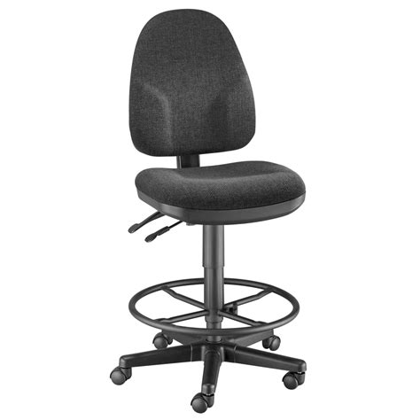 buy monarch drafting height black chair