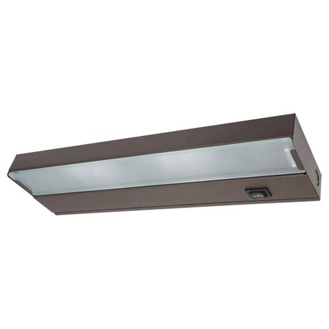 home depot under cabinet lighting 12 5 in xenon bronze low profile under cabinet light