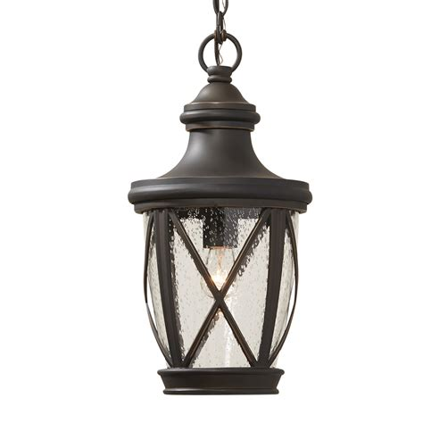 shop allen roth castine 16 93 in rubbed bronze outdoor