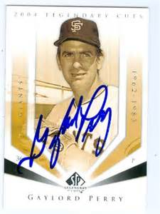 gaylord perry autographed baseball card san francisco