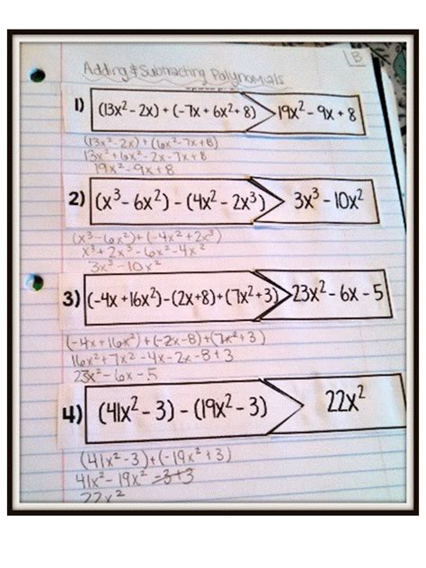adding and subtracting polynomials puzzles highschoolherd adding subtracting