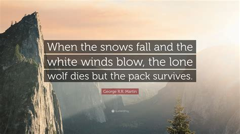 george rr martin quote   snows fall