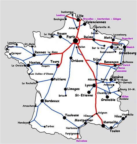 foto de Carte de France TGV Vacances Guide Voyage