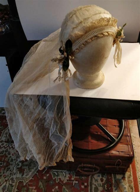antique victorian wedding headdressmesh veil beautiful