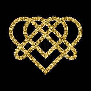 Golden Glittering Logo Template In