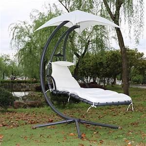 Fauteuil Suspendu Jardin : fauteuil suspendu chaise longue de jardin avec ombrelle ~ Dode.kayakingforconservation.com Idées de Décoration
