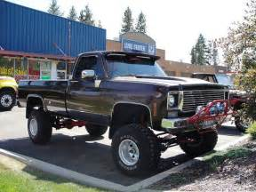 Redneck Lifted Chevy Truck