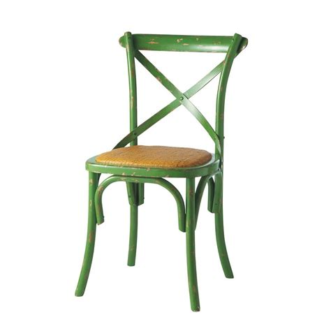 chaise verte chaise verte tradition maisons du monde