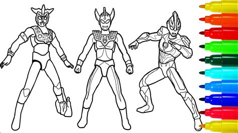 Coloring Ultraman Geed by Ultraman Printable Coloring Pages