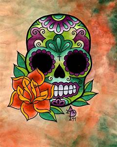 Sugar Skull and Rose by Ivorysixshooter on DeviantArt