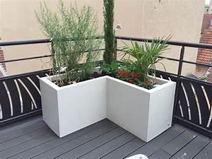 potager pour balcon terrasse green city paysagiste With grande jardiniere pour terrasse