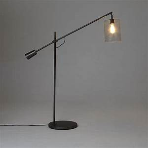 Adjustable glass floor lamp west elm light on pinterest for Adjustable glass floor lamp west elm