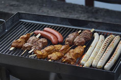 barbecue cuisine free images dish meal cooking eat cuisine delicious steak charcoal roasting bratwurst