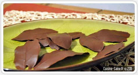 cuisine bio feuilles en chocolat cuisine saine