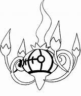 Pokemon Chandelure Coloring Drawings Pokémon Morningkids sketch template