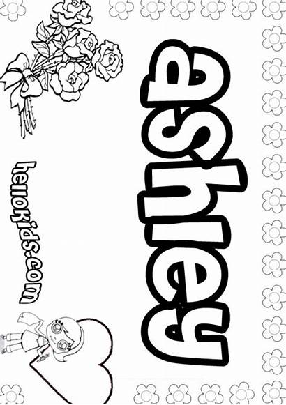 Coloring Pages Printable Ashley Names Graffiti Template